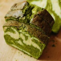 Matcha Pound Cake {recipe in Russian and English}