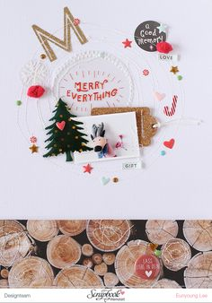PHOTO + PAPER + STAMP = CRAFTTIME!!!: LAYOUT - M(MERRY)