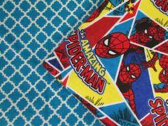 Baby Blanket Handmade Spider-Man Print Flannel Personalized Blanket Baby Shower Gift Stroller Blanket