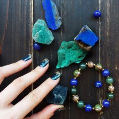 Sneak peek of our next collection, what do you think? #jadevinejewellery #jewelry #jewellery #uk #London #fashion #style #styling #accessory #bracelet #gold #blue #green #jade #stone #gemstone #nails #nailart #love #shop #shopping #new #collection #comingsoon #sneakpeek #preview #workinprogress