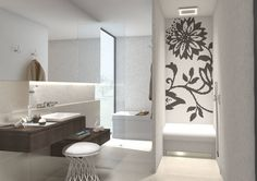 De zitbank in de douche : Eclectische badkamers van wedi