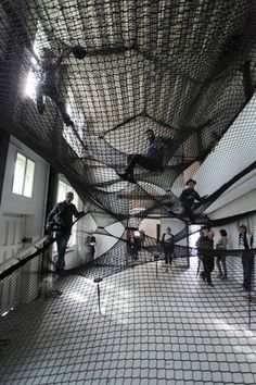 Net Z33, an art installation by Numen/For Use. Interconnected web of nets with multiple layers. Fun!