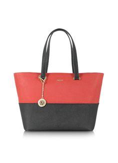 fb16e88ad218 DKNY Bryant Park Saffiano Leather EW Color Block Shopper