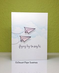 The keyword at CASology this week is FLY! I am using the fun paper airplanes from Lawn Fawn.