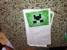 Minecraft party favor bags