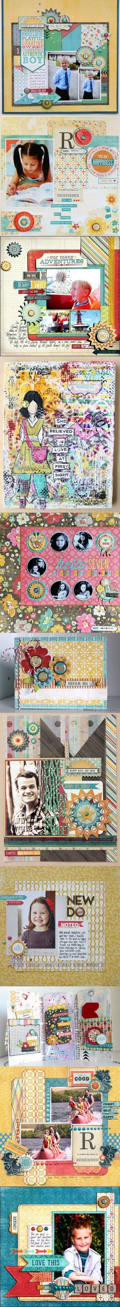 Scrapbook layouts Get all your My Minds eye supplies at allscrapbooksteals.com