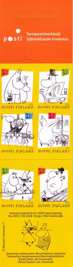 Literature for children / Stamps / Moomins Art Postal, Tove Jansson, Love Stamps, Little My, Stamp Collecting, Mail Art, Postage Stamps, Finland, Childrens Books