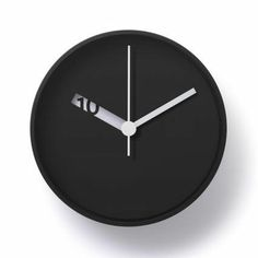 Extra Normal Wall Clock Black by Normal Timepieces