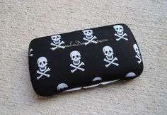 Skulls on Black Boutique Style Travel Wipe by LauraLeeDesigns108, $11.00