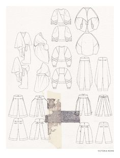 Fashion Sketchbook - fashion design drawings, fashion portfolio layout // Victoria Rowe