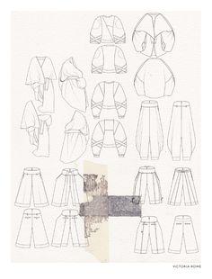 Fashion Sketchbook - fashion design drawings, fashion portfolio layout // Victoria Rowe