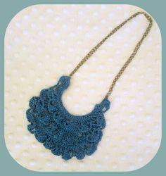 Ruffled Crochet Bib Necklace. Free Pattern: www.allaboutami.com