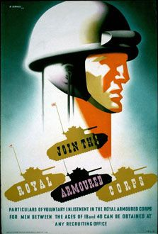 """""""Royal Armoured Corps poster, 1941"""" Abram Games"""
