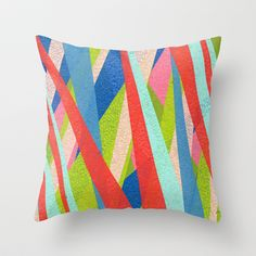 Colorful modern throw pillow $20.00