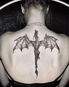 Dope Tattoos, Dream Tattoos, Badass Tattoos, Mini Tattoos, Body Art Tattoos, Small Tattoos, Tatoos, Cool Back Tattoos, Small Dragon Tattoos