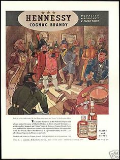 Hennessy Cognac Brandy Footman of Bath Weller (1940)