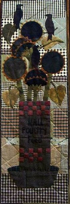 Primitive Wool Applique Pattern  Something to by FiddlestixDesign, $9.50
