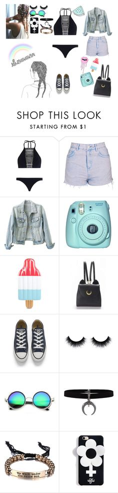 """Sin título #102"" by bianca-orfila ❤ liked on Polyvore featuring Zimmermann, Topshop, Fuji, WithChic, Converse and ZeroUV"