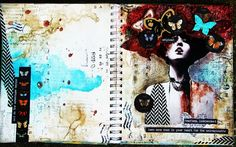 Art Journal Spread Fearless, Independent