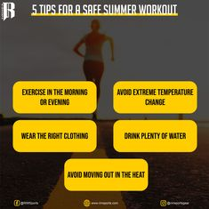 Use these five tips to enjoy your outdoor summer workouts safely. Follow few safety tips for summer workouts so you can keep up your physical activity in a healthy way. Summer Workouts, Workout Tips, Knee Wraps, Weight Lifting Gloves, Drink Plenty Of Water, Safety Tips, How To Stay Motivated, Physical Activities, Black Belt