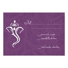 Indian Wedding RSVP Vighneshvara Wedding RSVP Cards