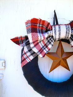 4th of July Wreath, Forever Plaid Wreath. $70.00, via Etsy. DIY