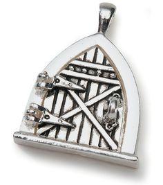 Darice Fairy Door Metal Charm 1/Pkg-Antique Silver