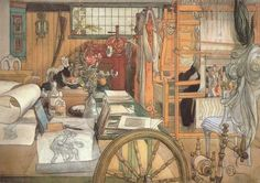 'Workshop' Carl Larsson - 1912