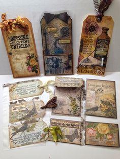 Compendium of Curiosities Volume 3, Challenge #18 - Tim Holtz Pocket Pages - Paper Skies and Hazel Eyes