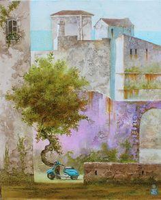 Sunny day. Acryl, Canvas, 40x50cm Original Art, Original Paintings, Figurative Art, Sunny Days, Buy Art, Seaside, Sunnies, Saatchi Art, Canvas Art
