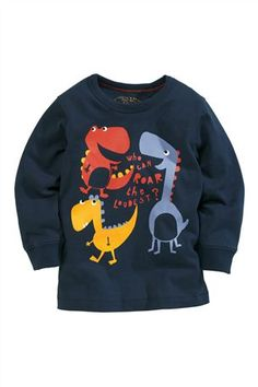 Buy Navy Dino T-Shirt (3mths-6yrs) from the Next UK online shop
