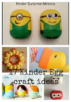 17 Kinder Egg craft ideas - Baymax, Minions, Tooth Fairy, Christmas baubles