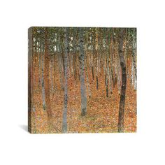 Forest Of Beech Trees, $130, by  Gustav Klimt at iCanvas Art !!