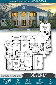Luxury House Plans, Dream House Plans, House Floor Plans, Dream Houses, Home Design Floor Plans, Dream Home Design, Building Plans, Building A House, Beverly House