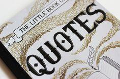 Book of Quotes by Liz Owen, via Behance