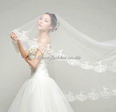 Custom White Ivory Wedding Veil Bridal Veil  by Elenafashionstudio, $89.00