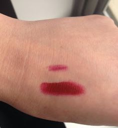 Swatches: Rimmel Cherry Kiss 071 paired with Lime Crime Wicked