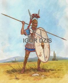The Samnite Spear man was a dependable medium infantryman who carried a heavy spear and javelins that they threw before ensuing melee with their spears. They were well armored, although not a shock unit like their swordsmen counterpart, they were well trained, fast and reliable spear men.