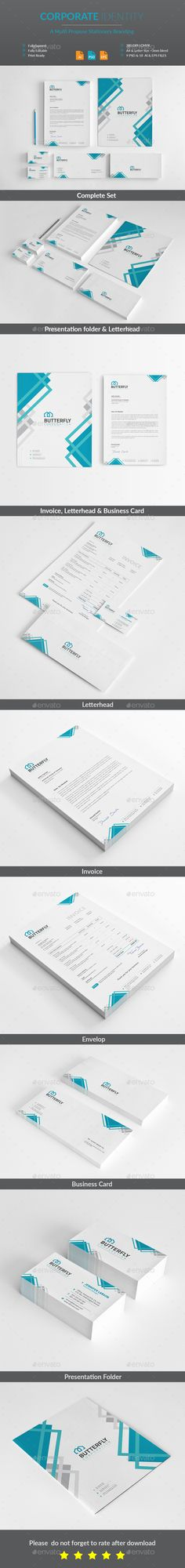 #Corporate #Identity - #Stationery Print Templates Download here: https://graphicriver.net/item/corporate-identity/19489002?ref=alena994