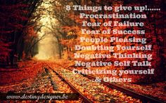 8 things to give up