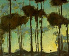 Charles Rollo Peters. Light Beyond the Trees. 25 x 32 inches. Oil on Canvas affixed to board.