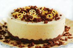 "Raw Orange Chocolate ""Cheesecake"""