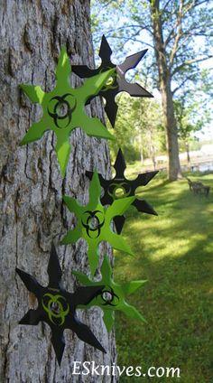 Zombie Extinction Bio Hazard Shuriken 6 piece Set Throwing Stars | Save 33% | Extremely-Sharp