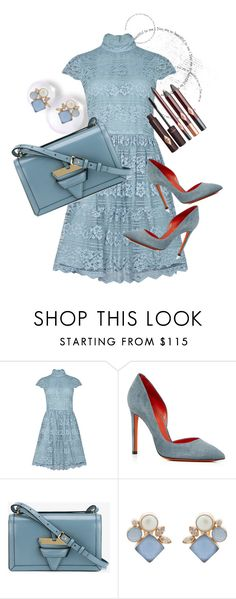 """""""Day to Night  Blue Sparkle"""" by peeweevaaz ❤ liked on Polyvore featuring Alice + Olivia, Santoni, Loewe, Atelier Mon, outfit, officewear, polyvoreeditorial and polyvorefashion"""