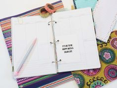 FREE Vertical A5 insert download + an easy planner DIY using Dollar Store Supplies!