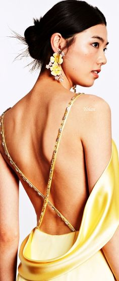 Dennis Basso Resort 2019 Dennis Basso, Do Not Fear, Summer Wedding, Sexy, Bring It On, Yellow, People, Happy, Lemon