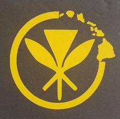 "9/"" Vinyl Kanaka Maoli Flag Car Decal Sticker #2"