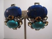 NEW SIGNED IRADJ MOINI LAPIS TURQUOISE EARRINGS | eBay