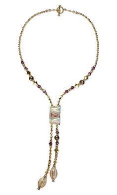 Single-Strand Necklace with Swarovski Crystal Beads, Murano-Style Hand-Blown Glass Beads and Gold-Plated Brass Beads - Fire Mountain Gems and Beads