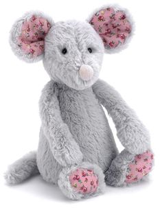 Jellycat Bashful Blossom Grey Mouse Small Soft Toy